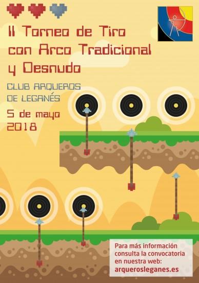 Club Arqueros de Leganés Cartel II Torneo de Tradicional